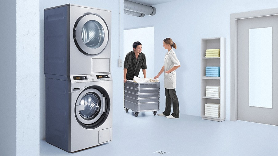 Miele washer dryer stack - Miele professional ...