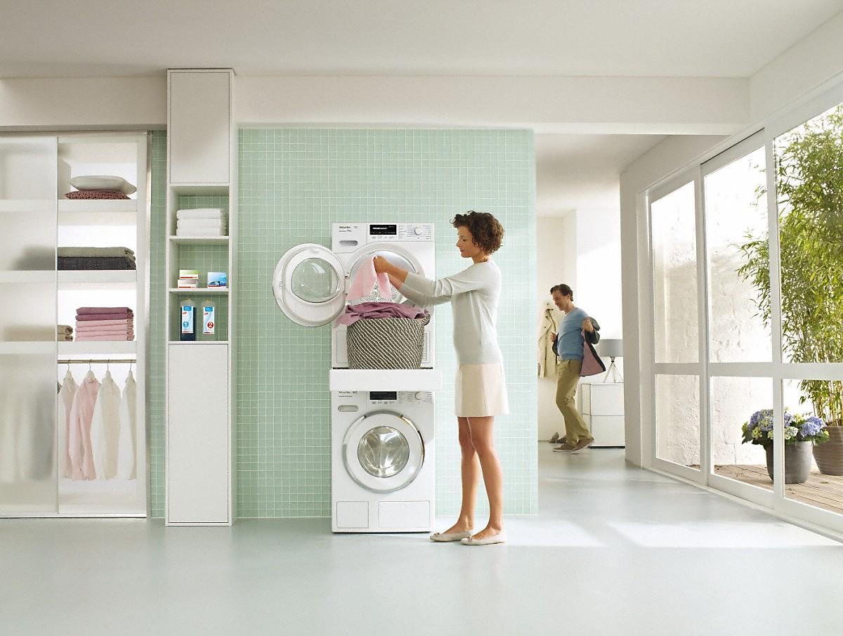 miele wtv 512 washer dryer stacking kit. Black Bedroom Furniture Sets. Home Design Ideas