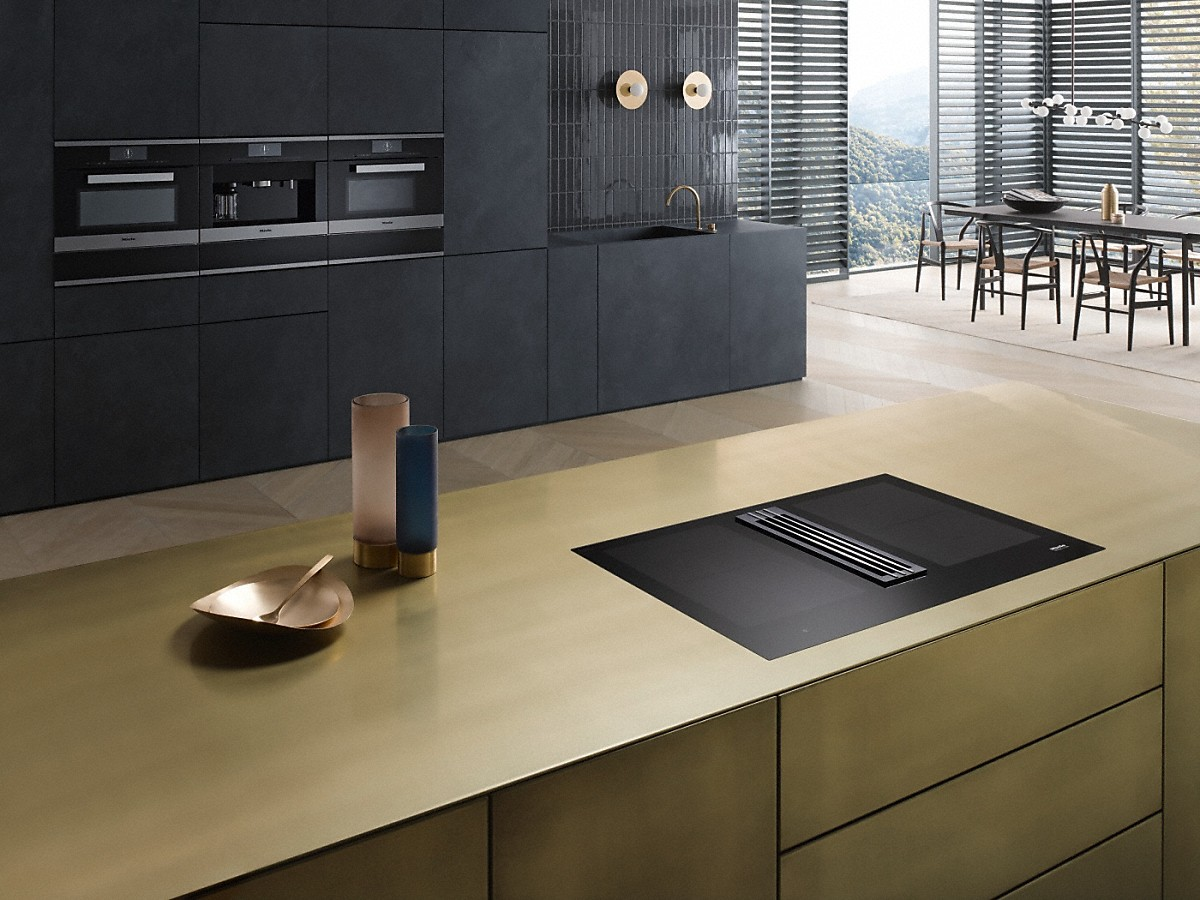 miele kmda 7774 fl induction hob with integrated extractor. Black Bedroom Furniture Sets. Home Design Ideas