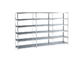 STG Steel shelf, base module, galvanised