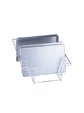 E 338 - Insert for the optimum loading of up to 8 half-shell trays.--stainless steel exterior