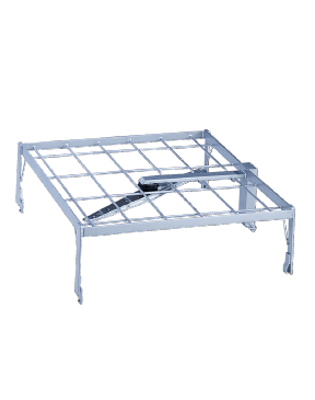 E 702 - Attachment to increase capacity by two further mesh trays.--stainless steel exterior