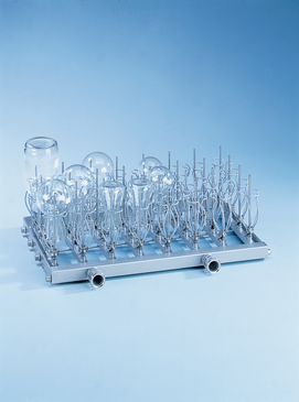 E 943/2 - Module for the optimum loading of narrow necked glassware 100 - 500 ml.--stainless steel exterior