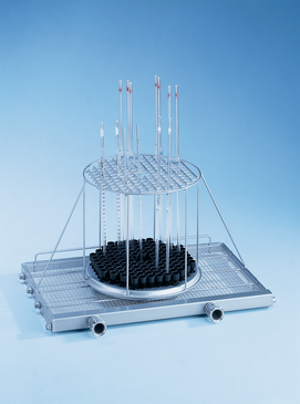 E 942/3 - Module for the optimum loading of up to 116 pipettes.--stainless steel exterior