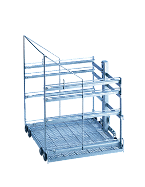 E 741/1 - Mobile unit for the optimum loading of modules on 1 - 4 levels.--stainless steel exterior