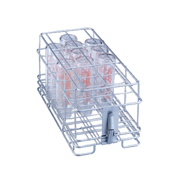 E 135/2 - Insert for optimum loading of 19 baby bottles up to 90 ml.--stainless steel exterior