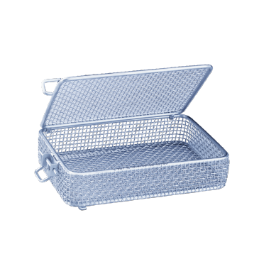 E 907/1 - Mesh trays for the optimum loading of different small-scale instruments.--stainless steel exterior