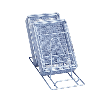 E 800 - Insert for optimum loading of 3 mesh or kidney trays.--stainless steel exterior