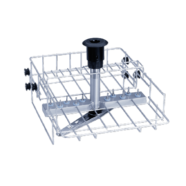 O 801/2 - Upper basket for optimum cleaning with 10 nozzles and holding of various inserts.--stainless steel exterior