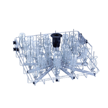 O 187 - Upper basket for the optimum loading of narrow necked glassware.--stainless steel exterior