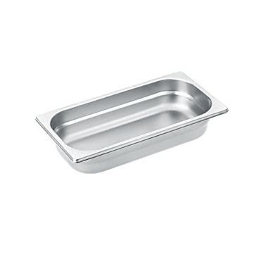 DGG 2 - Unperforated steam cooking container for cooking food in gravy, stock, water (e.g. rice, pasta).--Stainless steel