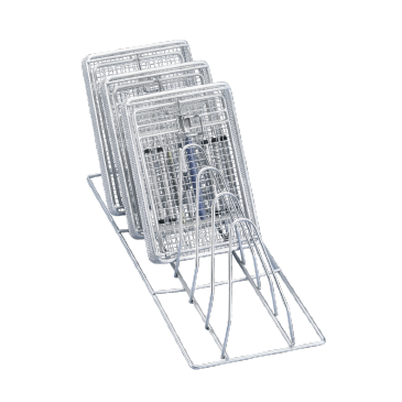 E 198 - Insert for optimum loading of up to 6 mesh and kidney trays.--stainless steel exterior