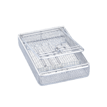 E 197 - Insert For optimum accommodation of different instruments.--stainless steel exterior