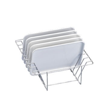 E 806/1 - Insert for the optimum loading of 8 half-shell trays.--stainless steel exterior