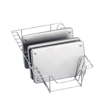 E 339/1 - Insert for the optimum loading of up to 12 tray dividers and trays.--stainless steel exterior