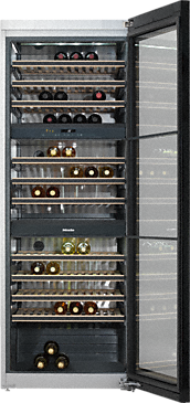 KWT 6833 SG - Freestanding wine conditioning unit with extra versatility and style, thanks to FlexiFrame and Miele Noteboard.--NO_COLOR