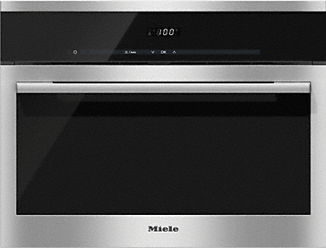DG 6100 - Built-in steam oven with discreet display and integrated sensors for easy operation.--Stainless steel/CleanSteel