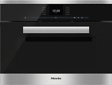DGC 6600 - XL steam combination oven with fully-fledged oven function - with motorised control panel and MultiSteam for discerning cooks.--Stainless steel/CleanSteel