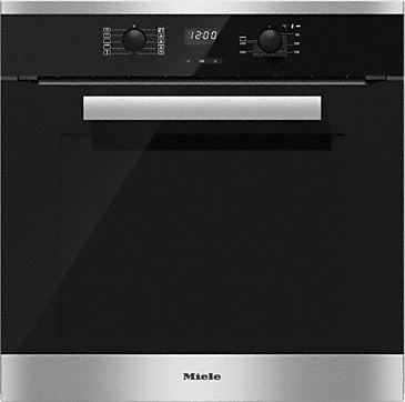 H 2661-1 B - Oven with convenience functions and XL oven compartment.--Stainless steel/CleanSteel