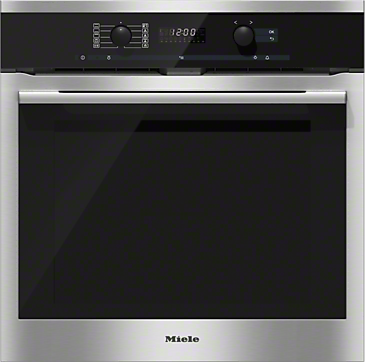 H 6160 BP - Oven with electronic clock and Moisture Plus for perfect cooking results.--Stainless steel/CleanSteel