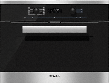H 6200 BP - Oven with electronic clock and Moisture Plus for perfect cooking results.--Stainless steel/CleanSteel