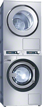 PWT 6089 + PT 7189 set - Washer-dryer stack for washing and drying in the smallest space, model with drain pump--Stainless steel
