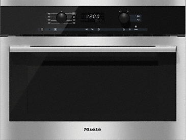 M 6160 TC - Built-in microwave oven with top controls for maximum combination options.--Stainless steel/CleanSteel