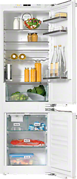 KFN 37452 iDE - Built-in fridge-freezer combination with an individual touch thanks to FlexiLight glass shelf lighting and IceMaker--