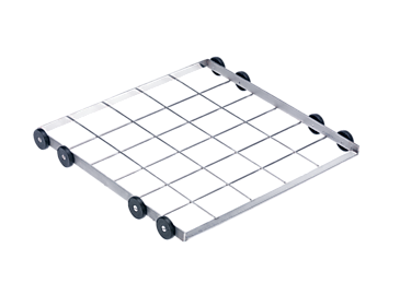 U 876 - Lower basket carrier, stainless steel For inserts or baskets up to 50 x 50 cm.--stainless steel exterior