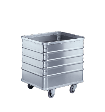TW 01 - Light alloy trolley with 223 litre capacity.--stainless steel exterior