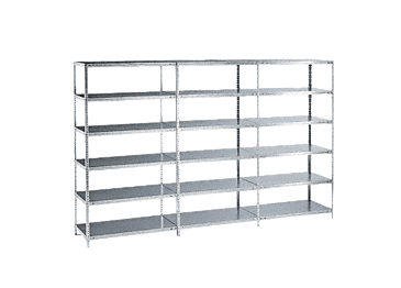 STG - Steel shelf, base module, galvanised With six shelves for optimum storage.--NO_COLOR