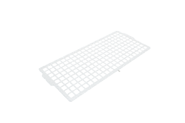 E 10 - Perforated tray pad 1/2 for lower baskets For holding different wash items such as milk jugs, bowls, etc.--NO_COLOR