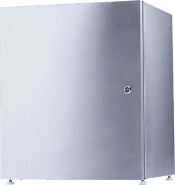 UG 70-60/80 - Closed plinth for the ergonomic loading and unloading of a dishwasher - height 70 cm.--stainless steel exterior