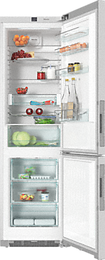 KFN 29233 D edt/cs - XL freestanding fridge freezer with DailyFresh and Frost free for more freshness and highest convenience.--Stainless steel/CleanSteel