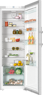 K 28202 D - Freestanding refrigerator with Dynamic cooling and lever handle for convenient side-by-side combination.--Stainless steel/CleanSteel