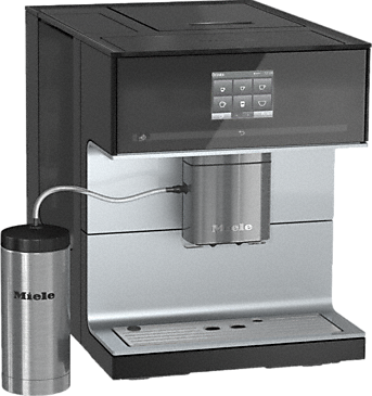 CM 7300 - Countertop coffee machine with OneTouch for Two feature and heated cup rack for perfect coffee.--Obsidian black