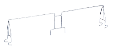 E 475 - Holding bar for stabilising sleeves.--stainless steel exterior