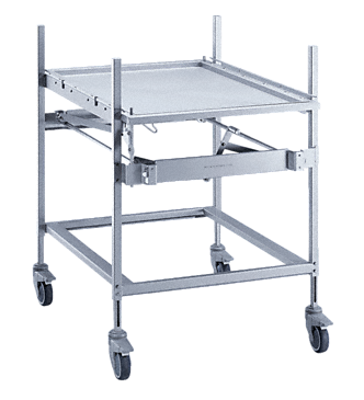 MF 27/28-1 - Transfer trolley for loading & unloading washer-&disinfectors.--stainless steel exterior