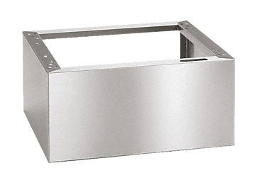 UE 30-60/60-78 - Closed plinth to raise the machine, 60 cm deep, 60 cm wide.--stainless steel exterior