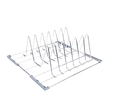 U 515 - Tray basket, stainless steel for the optimum loading of 6 trays, serving platters and baking trays.--NO_COLOR