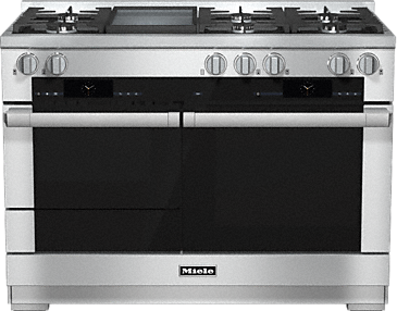 HR 1956 G - 48 inch range - the Dual fuel all-rounder for the highest demands.--Stainless steel