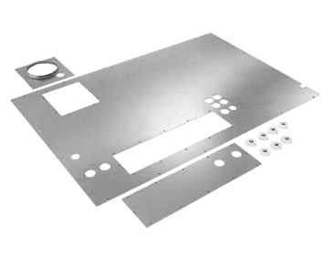 ALWD MAVL 27/28 - Cover plate For the top cover on the cladding for appliances PG 8527 and PG 8528.--Stainless steel