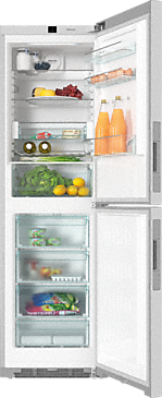 KFN 29243 D ed/cs - XL freestanding fridge freezer with DailyFresh and Frost free for more freshness and highest convenience.--Stainless steel/CleanSteel