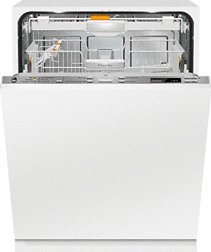 G 6890 SCVi K2O - Fully integrated dishwashers with Knock2open and in-door salt container for maximum convenience.--Stainless steel/CleanSteel