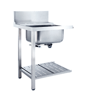 T 625-1 BUF - Additional table with sink to install in a corner with frontal installation towards dishwasher.--NO_COLOR