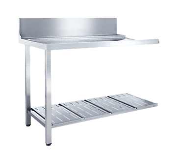 T 1200-1 UF - Universal table for installing in a corner with the frontal installation towards the dishwasher.--NO_COLOR