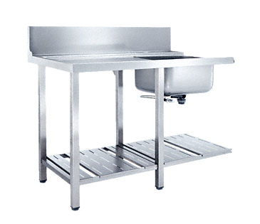 T 1200-1 BUF - Additional table with sink to install in a corner with frontal installation towards dishwasher.--NO_COLOR