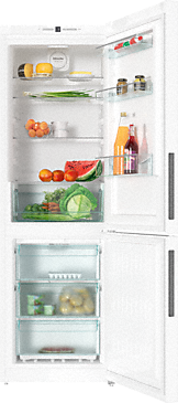 KFN 28132 ws - Freestanding fridge-freezer with Frost free and Dynamic cooling for highest convenience and versatility.--White