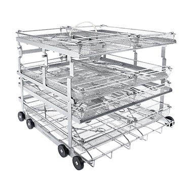 A 208 - Mobile unit For the optimum loading of 8 mesh trays.--stainless steel exterior