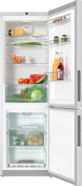 KFN 28132 edt/cs - Freestanding fridge-freezer with Frost free and Dynamic cooling for highest convenience and versatility.--Stainless steel/CleanSteel